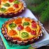 Тарталетки с овощами и йогуртовой заливкой