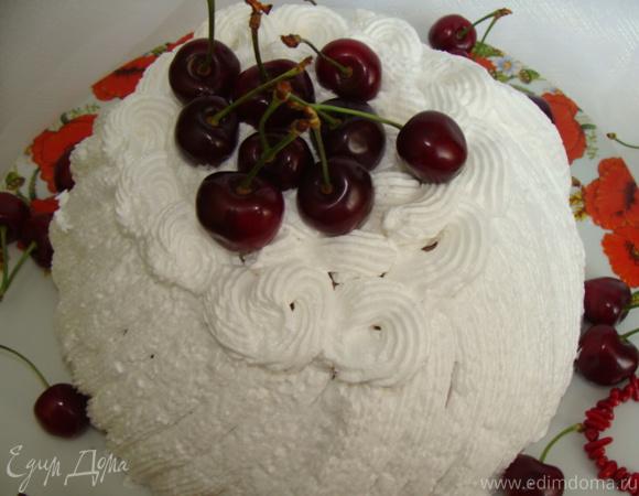"""Торт десерт """"Черешня в облаках"""""""