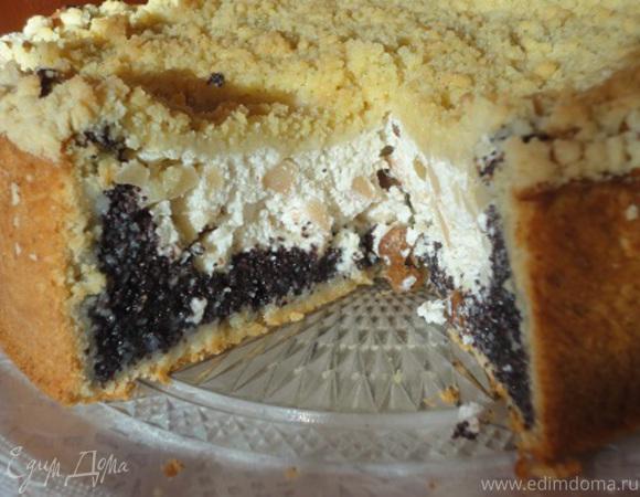 Творожный пирог с маком от Юлии Высоцкой