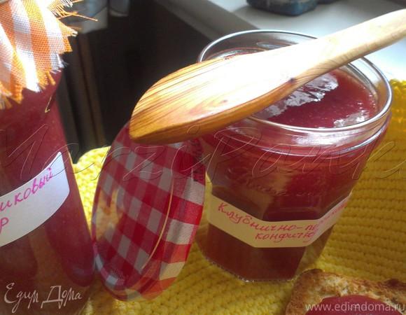 Клубнично-персиковый конфитюр