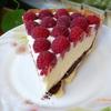 Тарт с малиной, заварным кремом и шоколадной прослойкой