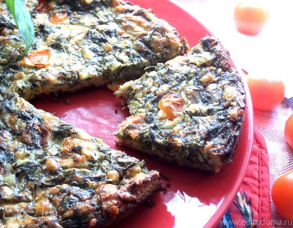 Сырная пицца на хлебе