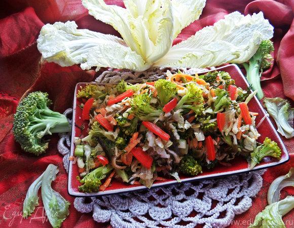 """Постный салат """"4 капусты"""""""