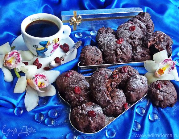 """Печенье с шоколадом и клюквой """"Чёрный лес"""""""