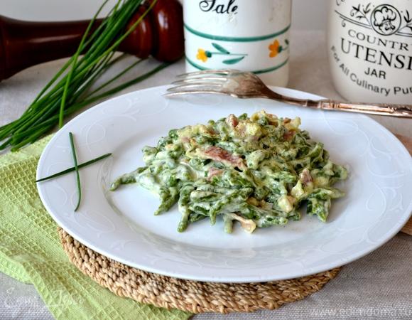 Тирольские клецки со шпинатом (Spinatspätzle)
