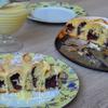 Сдобный пирог с вишнями и маком