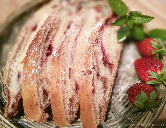 Сладкий клубничный хлеб