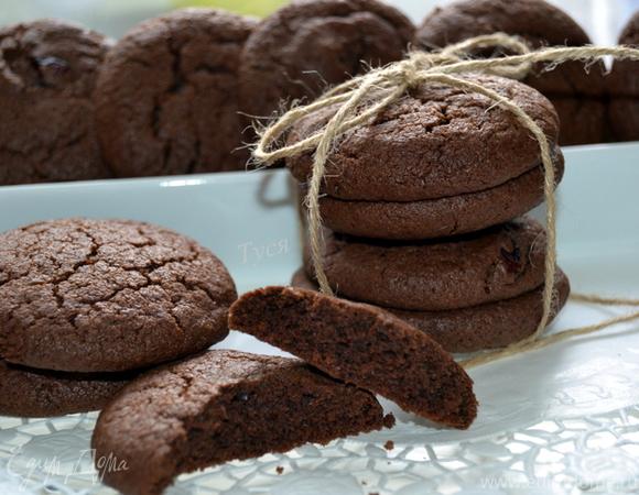 Шоколадное печенье рецепт пошаговый с