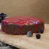 Пирог нутовый с помадкой из черной смородины