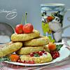 Пшенно-творожные лепешки, запеченные в духовке к завтраку