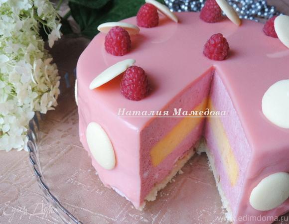 "Муссовый торт ""Грейпфрут-малина"""