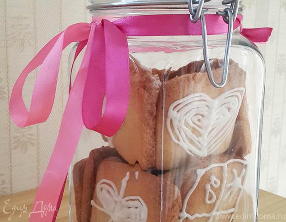 Ванильное печенье с белым шоколадом