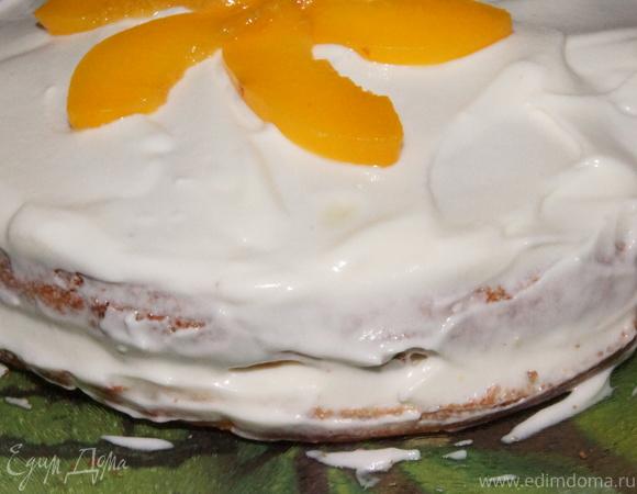 """Персиковый торт """"Белоснежный"""""""