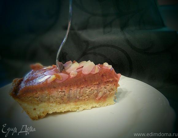 Ревеневый тарт с франжипаном