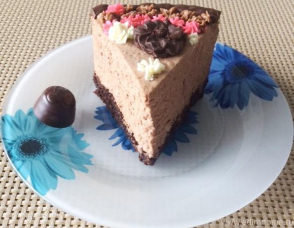 Вишневый муссовый торт без выпечки