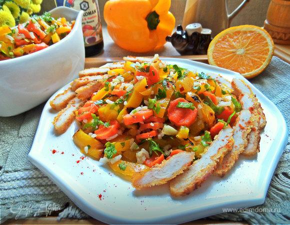 Морковный салат с курицей