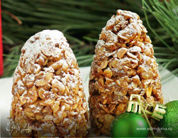 Орехово-арахисовые «Шишки-гранола»