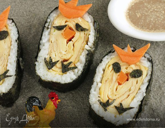 Суши с омлетом «Цыплята»