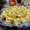 Яичный рулет с сыром «Мозаика»