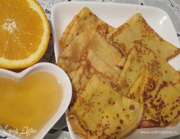 Тыквенно-апельсиновые блинчики