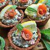 Корзиночки с сырно-рыбной начинкой