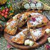 Пирог постный «Ананас, банан, киви»