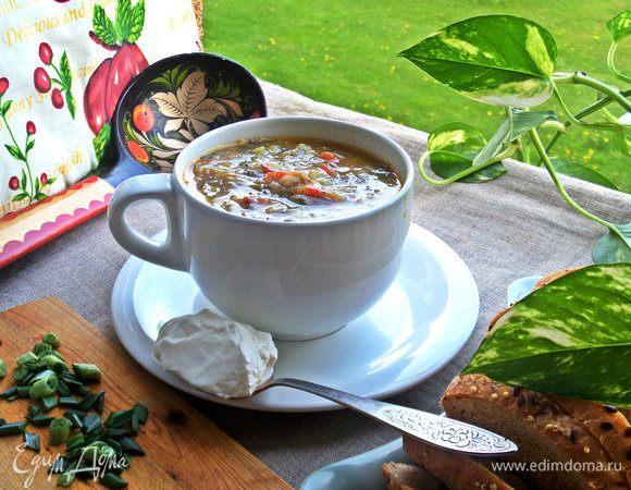 Щавелевый суп с рисом и картофелем
