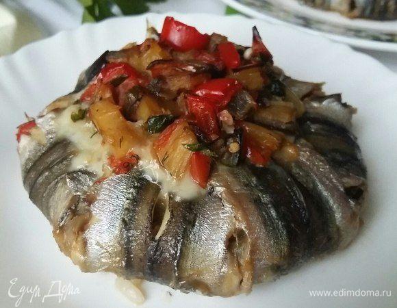 Рыбные узелки с рисом и овощами