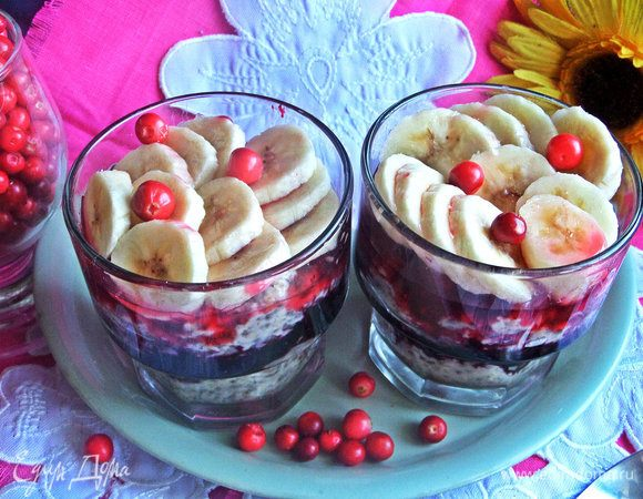 Десерт «Овсянка с чиа»