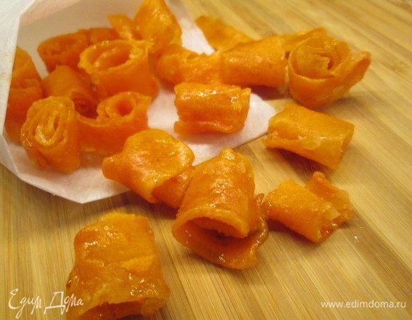 Морковные цукаты на лимонном сиропе