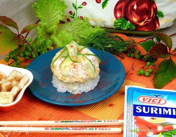 Крабовый салат в стиле тартар