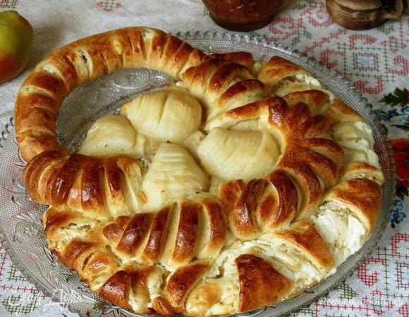 Пирог «Корзинка с грушами»