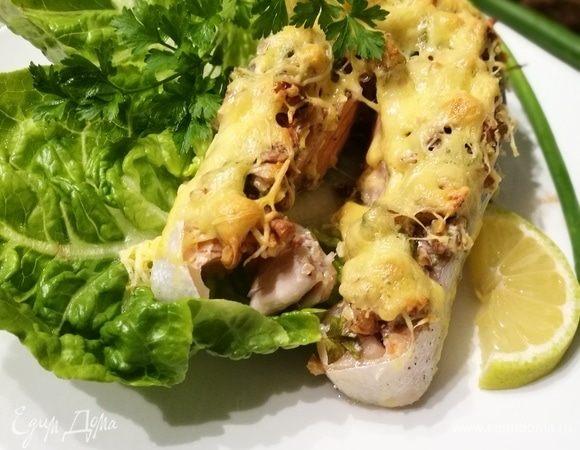 Лосось под орехово-сырной корочкой