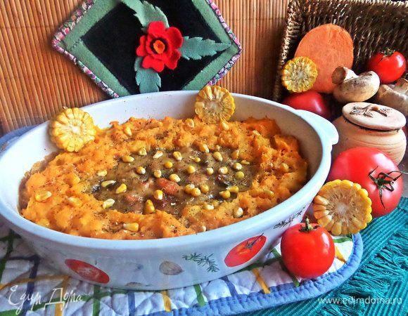 Картофельно-рыбная запеканка под соусом «Бешамель»