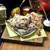 Блинчики с мясом и брусникой