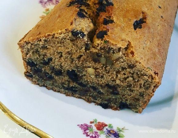 Кофейно-шоколадный кекс с орехами