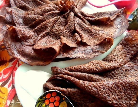 Шоколадно-овсяные блины