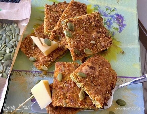 Тыквенные квадратики-галеты с орехами и семечками