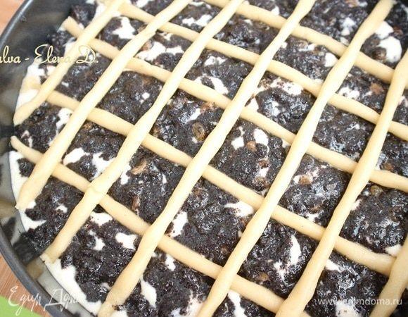 Маковый пирог с творожной начинкой