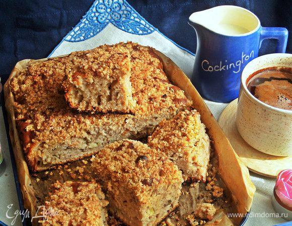 Пирог с ревенем и овсяным штрейзелем