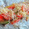 Курица с овощами в лаваше