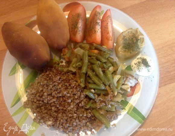Зеленая фасоль с овощами и мясом «Мя-Фасоль»
