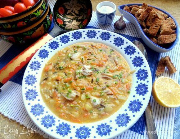 Суп из скумбрии «Ретро»
