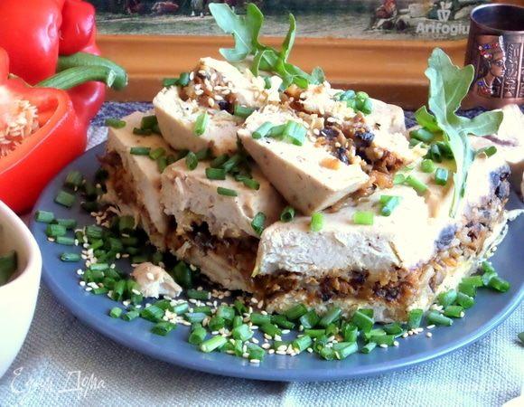Куриный террин с грибной прослойкой