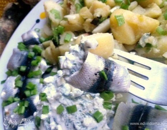 Килька с картошкой и творогом