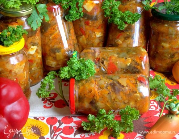 Баклажановый салат на зиму