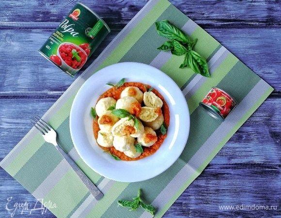 Нежные ньокки с ароматным томатно-овощным соусом