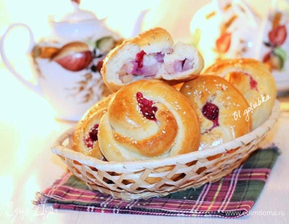 Ванильные булочки с ананасом