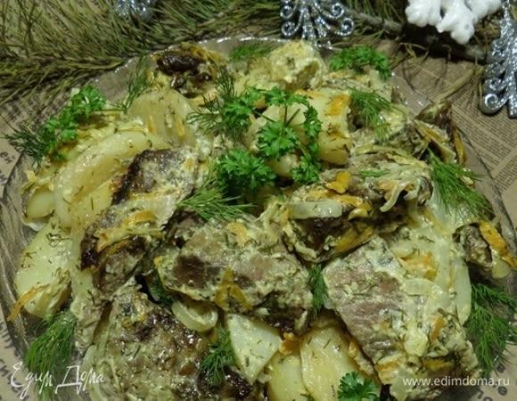 Запеченные овощи с говядиной