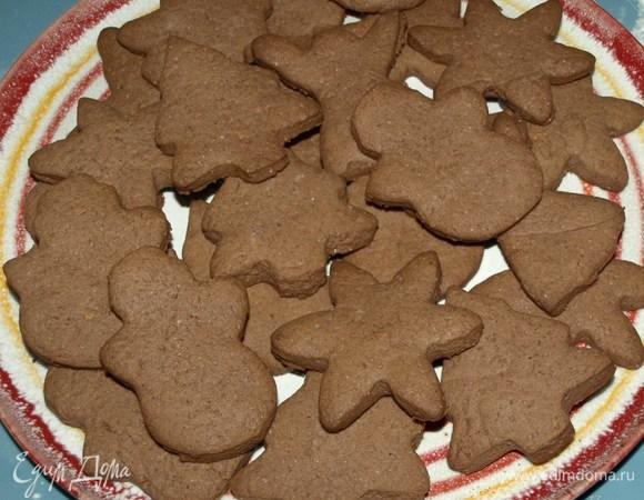 Шоколадно-имбирное печенье